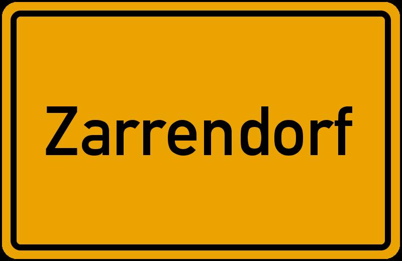 Gemeinde Zarrendorf Mecklenburg Vorpommern